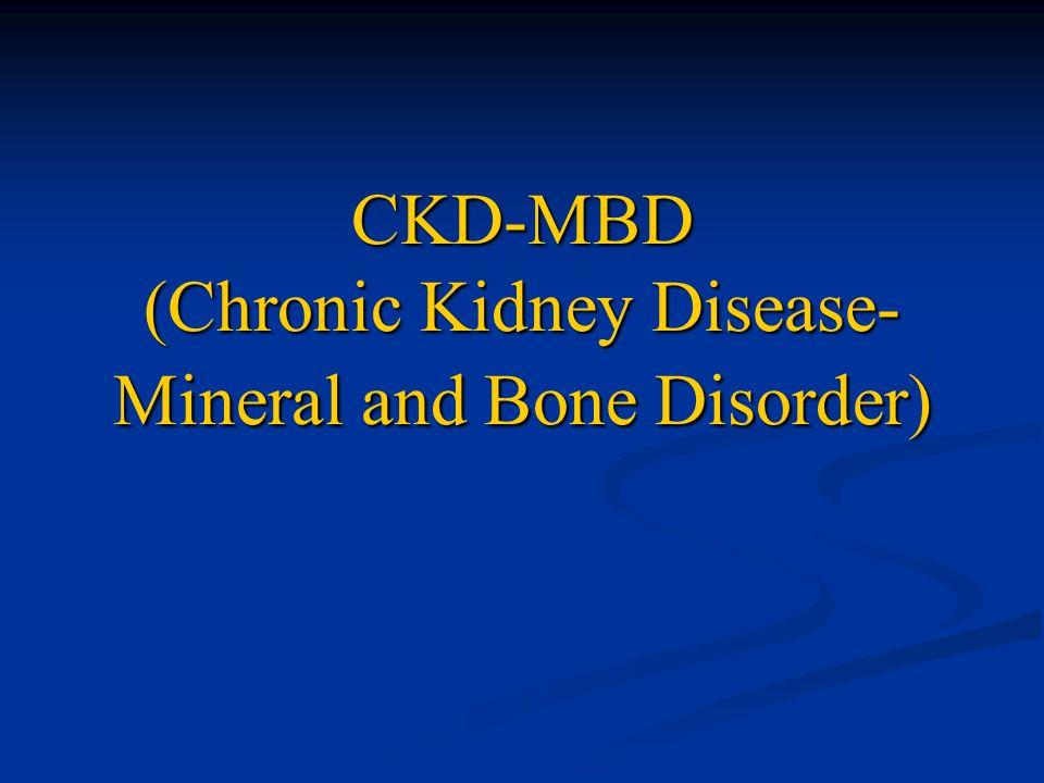 CKD and Bone disease KDIGO guidelines CKD-MBD 2009