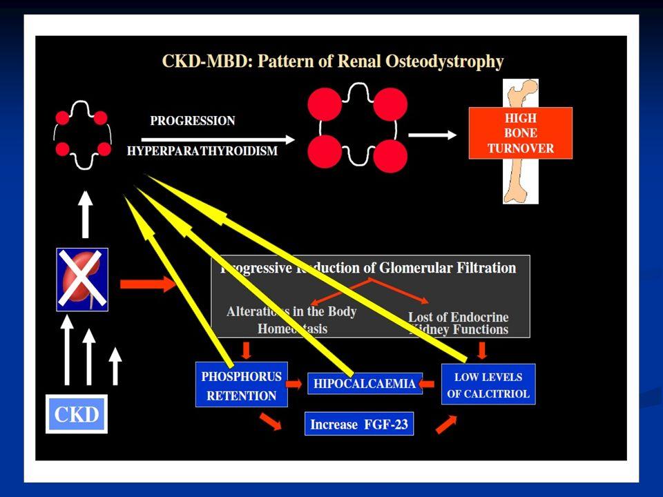 VDRAs (vitamin D receptor activators) In IRC con la riduzione dei livelli di vitmaina D circolante si ha una riduzione dei VDR a livello paratiroideo con conseguente aumento della sintesi di PTH e iperplasia paratiroidea In IRC con la riduzione dei livelli di vitmaina D circolante si ha una riduzione dei VDR a livello paratiroideo con conseguente aumento della sintesi di PTH e iperplasia paratiroidea I VDRAs attivano i VDR e determinano una inibizione dei fattori di crescita e della proliferazione delle paratiroidi I VDRAs attivano i VDR e determinano una inibizione dei fattori di crescita e della proliferazione delle paratiroidi Tre generazioni di VDRAs: prima generazione (calcitriolo), terza generazione (paracalcitolo) Tre generazioni di VDRAs: prima generazione (calcitriolo), terza generazione (paracalcitolo) GIN 2009 S30-35
