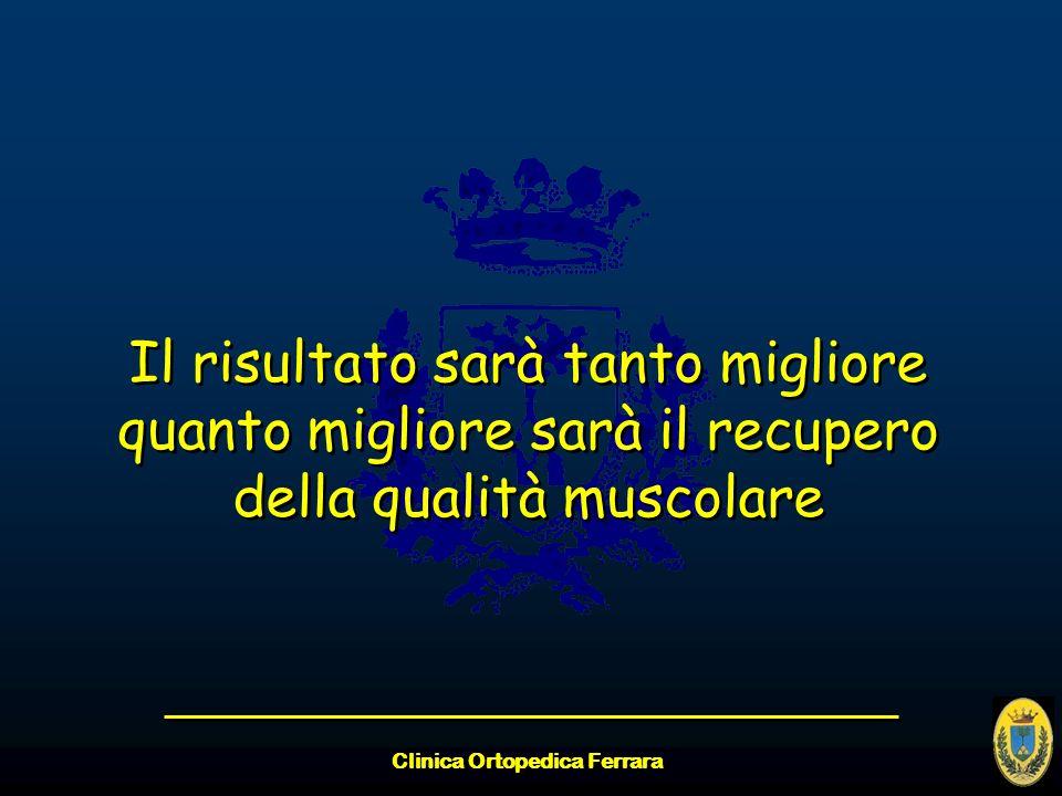 Clinica Ortopedica Ferrara Il risultato sarà tanto migliore quanto migliore sarà il recupero della qualità muscolare