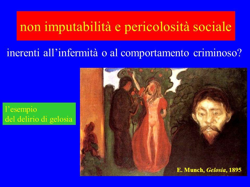non imputabilità e pericolosità sociale E. Munch, Gelosia, 1895 lesempio del delirio di gelosia inerenti allinfermità o al comportamento criminoso?