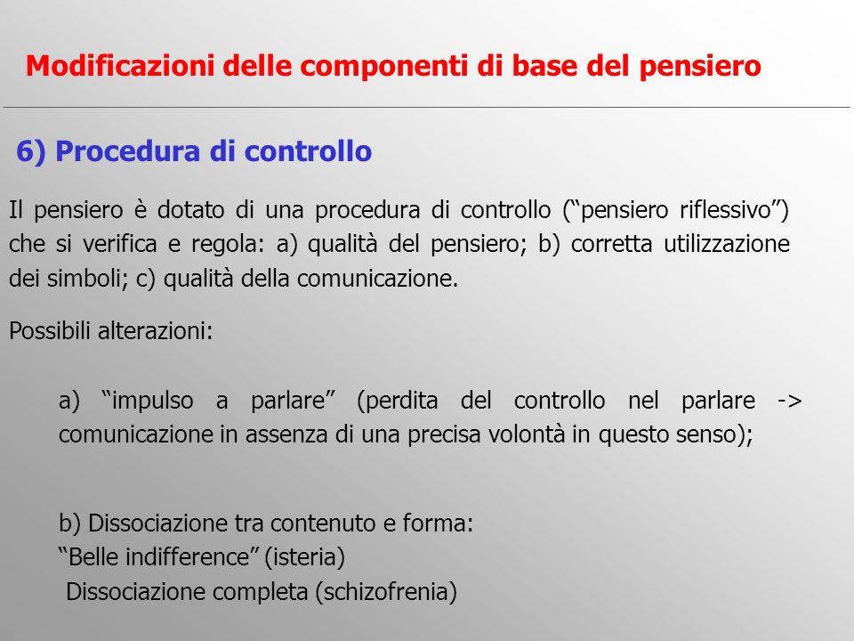 Il pensiero è dotato di una procedura di controllo (pensiero riflessivo) che si verifica e regola: a) qualità del pensiero; b) corretta utilizzazione