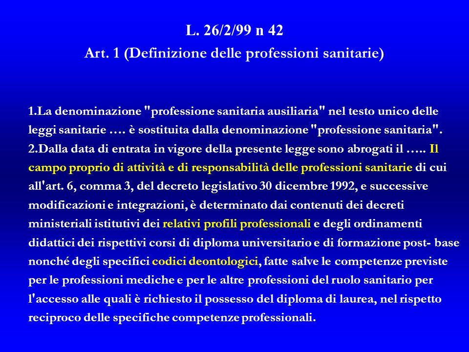 L.26/2/99 n 42 Art.