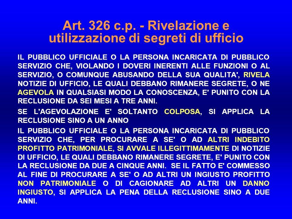 Art.326 c.p.