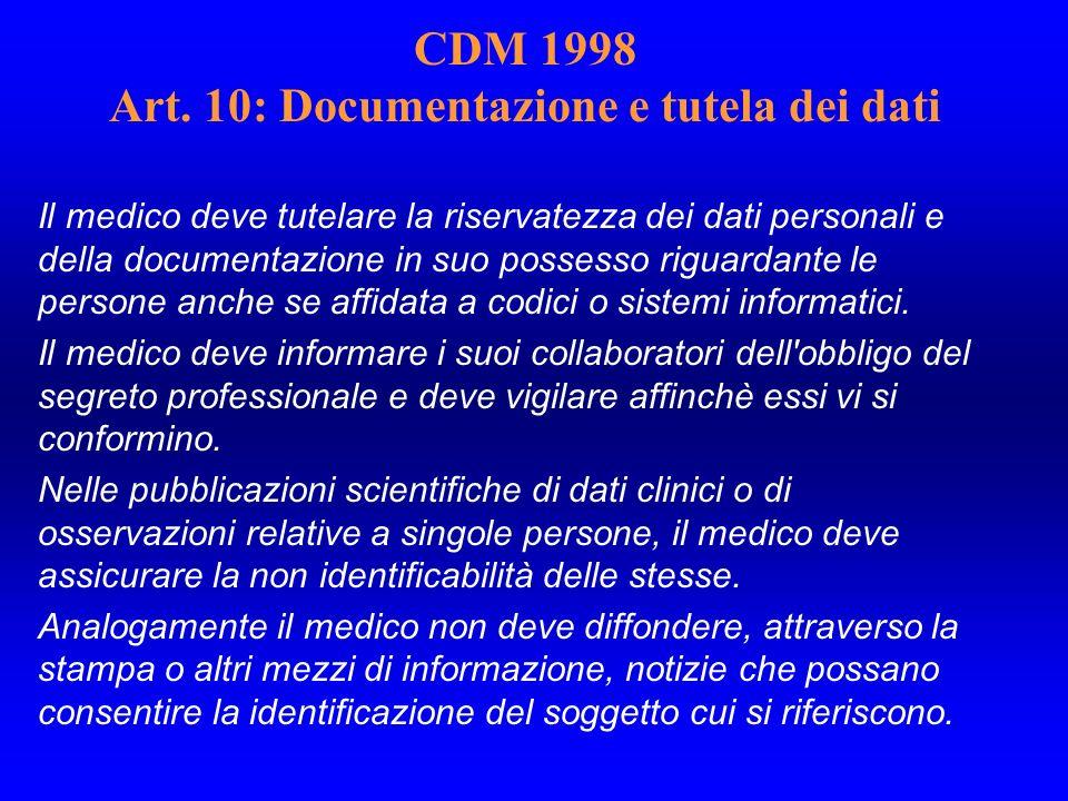 CDM 1998 Art.