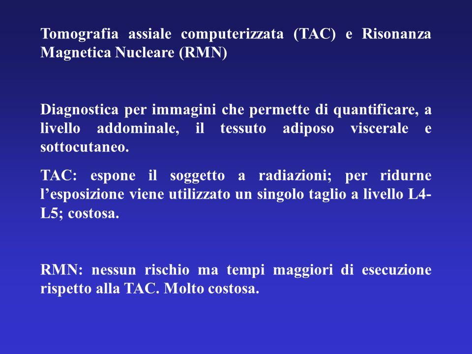 Tomografia assiale computerizzata (TAC) e Risonanza Magnetica Nucleare (RMN) Diagnostica per immagini che permette di quantificare, a livello addomina