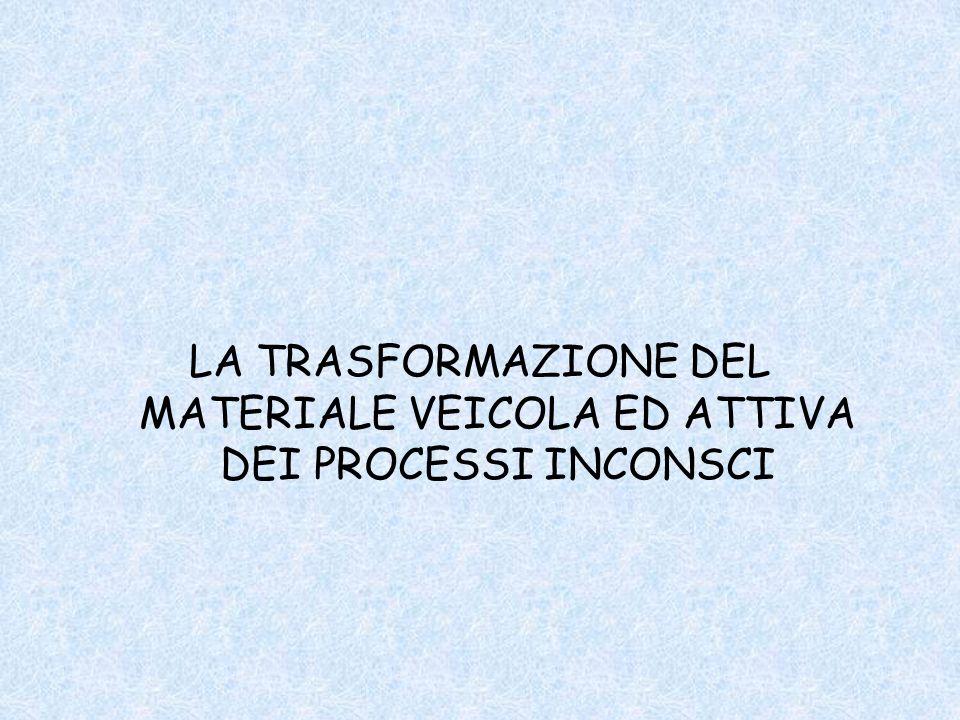 LA TRASFORMAZIONE DEL MATERIALE VEICOLA ED ATTIVA DEI PROCESSI INCONSCI