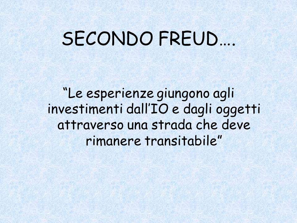 SECONDO FREUD….