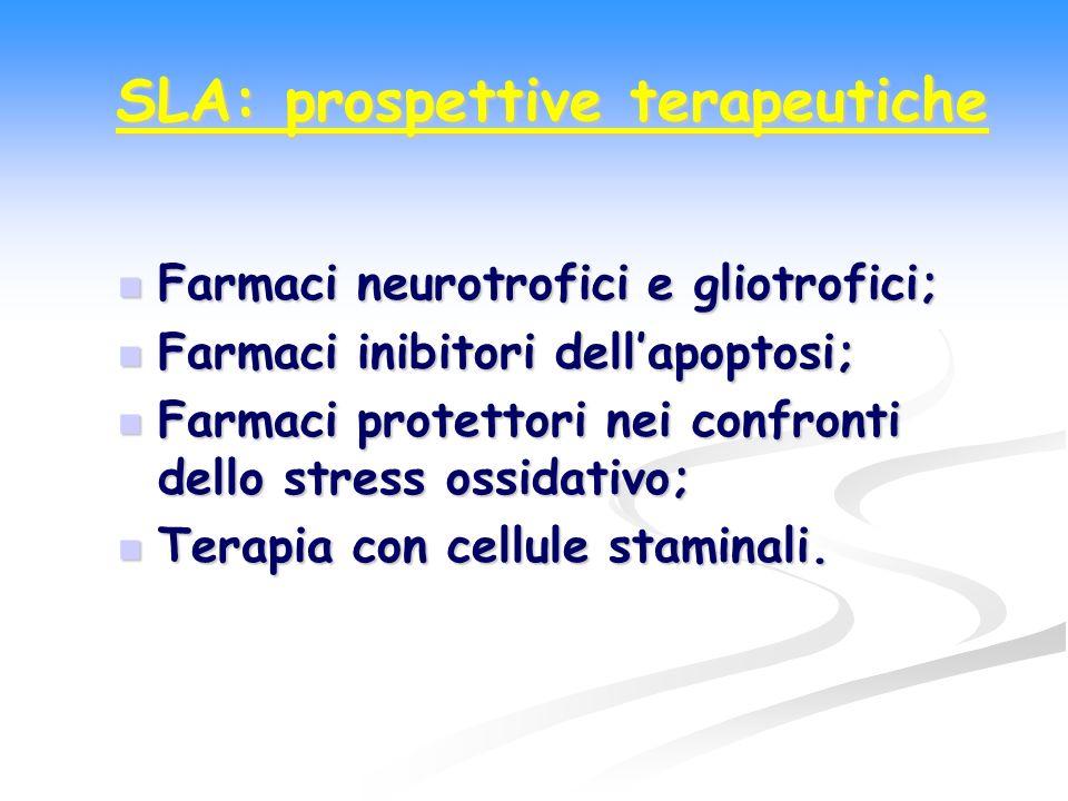 Farmaci neurotrofici e gliotrofici; Farmaci neurotrofici e gliotrofici; Farmaci inibitori dellapoptosi; Farmaci inibitori dellapoptosi; Farmaci protet
