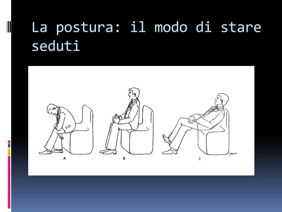 La postura: il modo di stare seduti