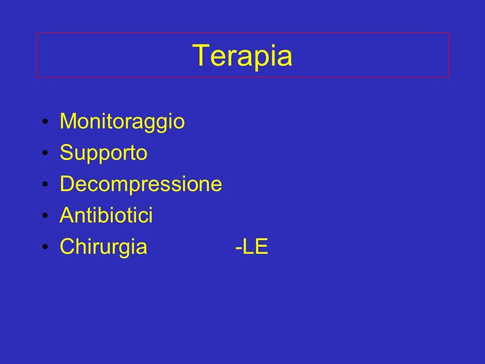 Terapia Monitoraggio Supporto Decompressione Antibiotici Chirurgia -LE