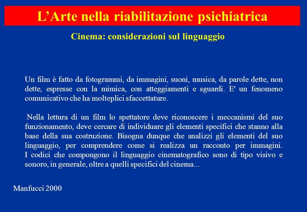 Un film è fatto da fotogrammi, da immagini, suoni, musica, da parole dette, non dette, espresse con la mimica, con atteggiamenti e sguardi. E' un feno