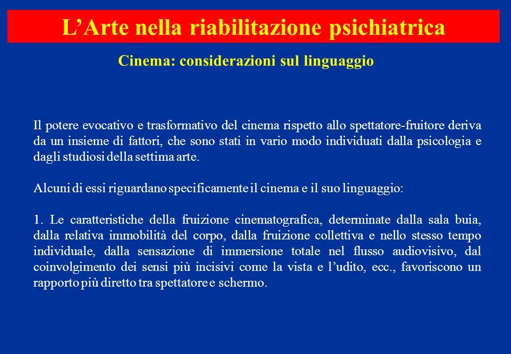 Il potere evocativo e trasformativo del cinema rispetto allo spettatore-fruitore deriva da un insieme di fattori, che sono stati in vario modo individ