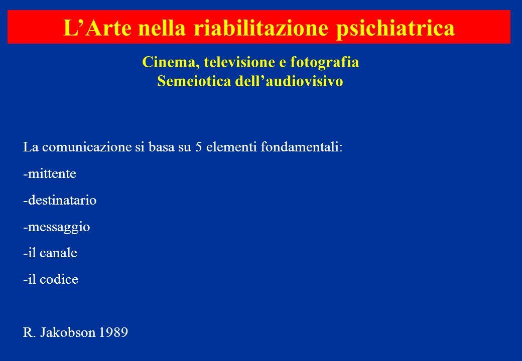 La comunicazione si basa su 5 elementi fondamentali: -mittente -destinatario -messaggio -il canale -il codice R. Jakobson 1989 Cinema, televisione e f