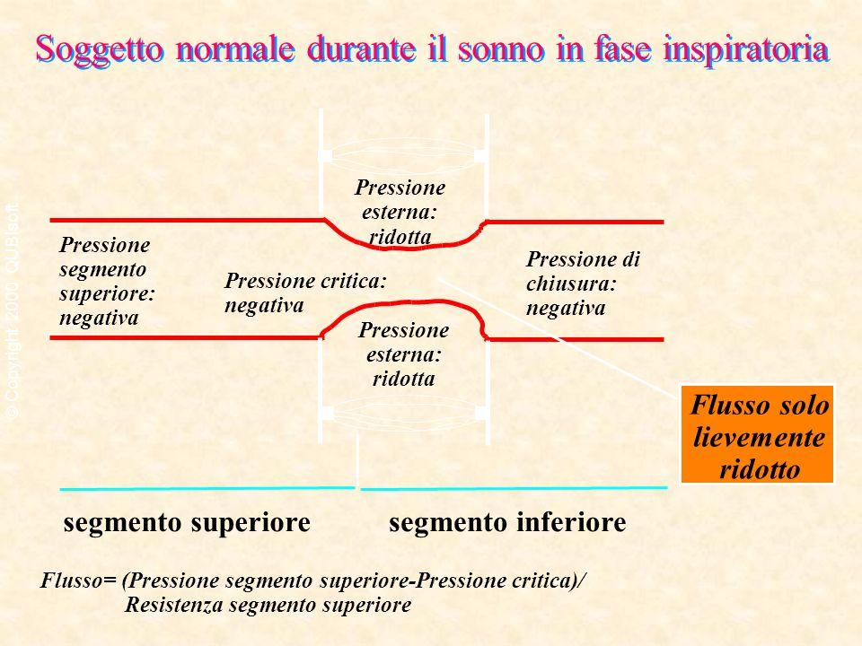 segmento superioresegmento inferiore Pressione segmento superiore: negativa Pressione di chiusura: negativa Pressione critica: negativa Pressione este