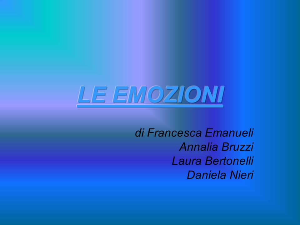 di Francesca Emanueli Annalia Bruzzi Laura Bertonelli Daniela Nieri