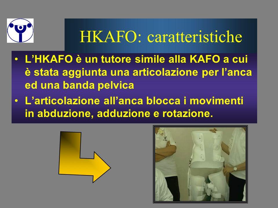 LHKAFO è un tutore simile alla KAFO a cui è stata aggiunta una articolazione per lanca ed una banda pelvica Larticolazione allanca blocca i movimenti
