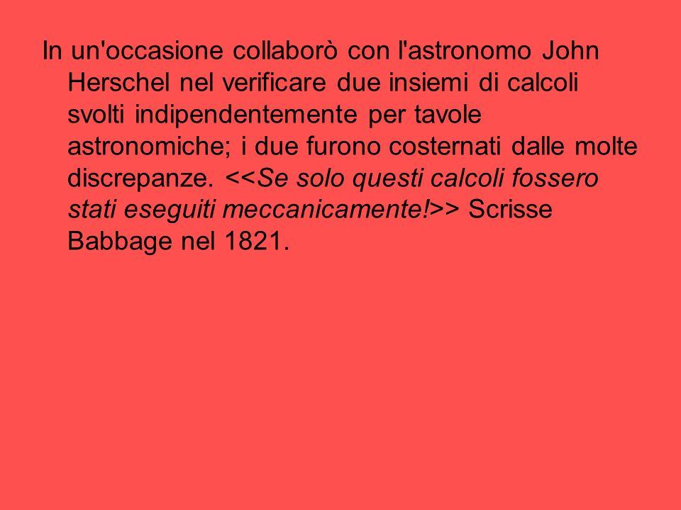 In un'occasione collaborò con l'astronomo John Herschel nel verificare due insiemi di calcoli svolti indipendentemente per tavole astronomiche; i due