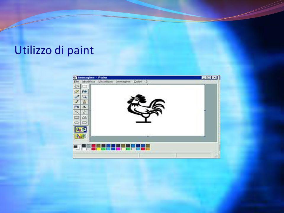 Utilizzo di paint
