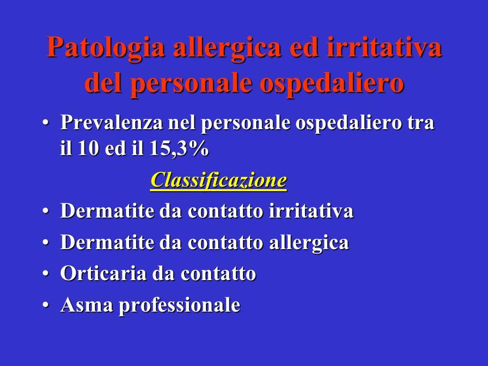 Linee di prevenzione ambientale Istituzione di protocolli di comportamento per il personale esposto ad opera dei responsabili delle unità operative (V paragrafo della C.M.