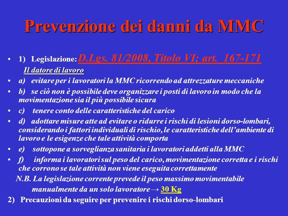 Patologie da MMC Altre alterazioni frequenti: Artrosi : malattia degenerativa delle articolazioni, che determina la formazione di becchi ossei ai margini delle vertebre con irregolarità dellosso.