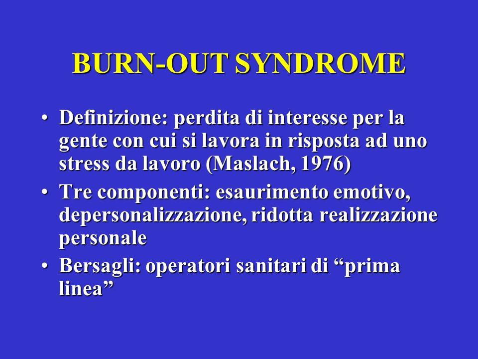 MOBBING Si distinguono secondo Leymann 4 fasi: 1)Segnali premonitori 2)Stigmatizzazione 3)Caso ufficiale 4)Allontanamento - Nei casi conclamati possono comparire sintomi inquadrati nella categoria DSM-III di disturbo ansioso e IV come disturbo post-traumatico da stress (sindrome da stress)