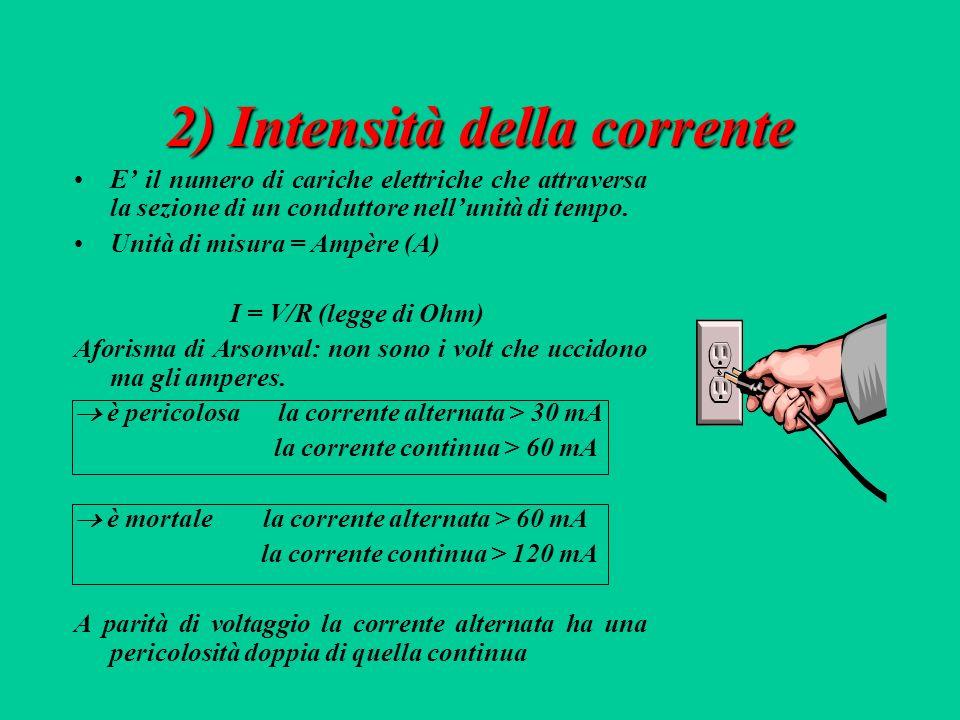 1) Tipologia della corrente Corrente continuaCorrente continua: passaggio di cariche elettriche nei conduttori costante ed uniforme.