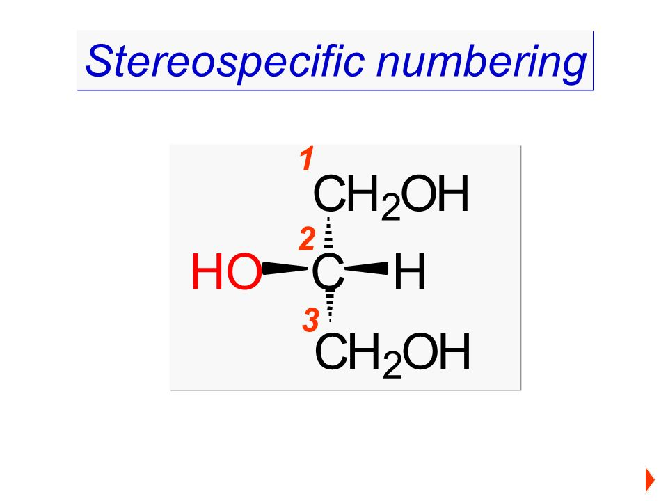 1 2 3 Stereospecific numbering CH 2 OH C CH 2 OH HHO