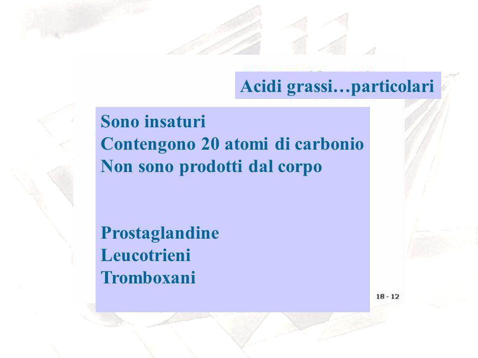 Le prostaglandine Sono derivate dall acido arachidonico