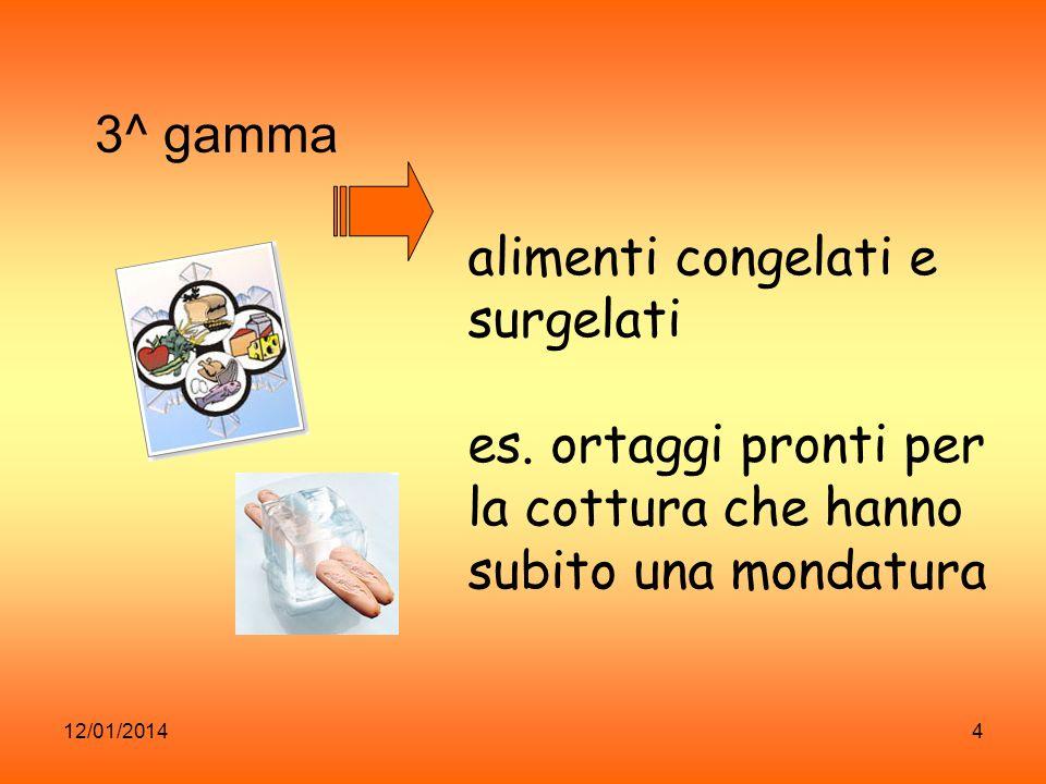 12/01/20145 4^gamma Sono prodotti di pronto consumo.