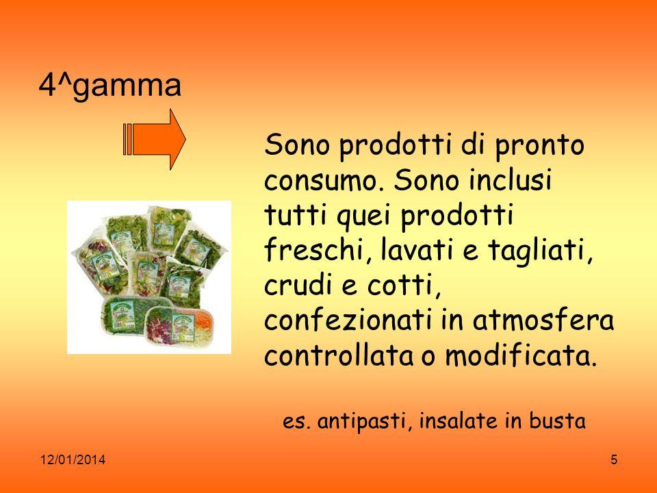12/01/20146 5^ gamma prodotti pre-cotti o pre- cucinati.