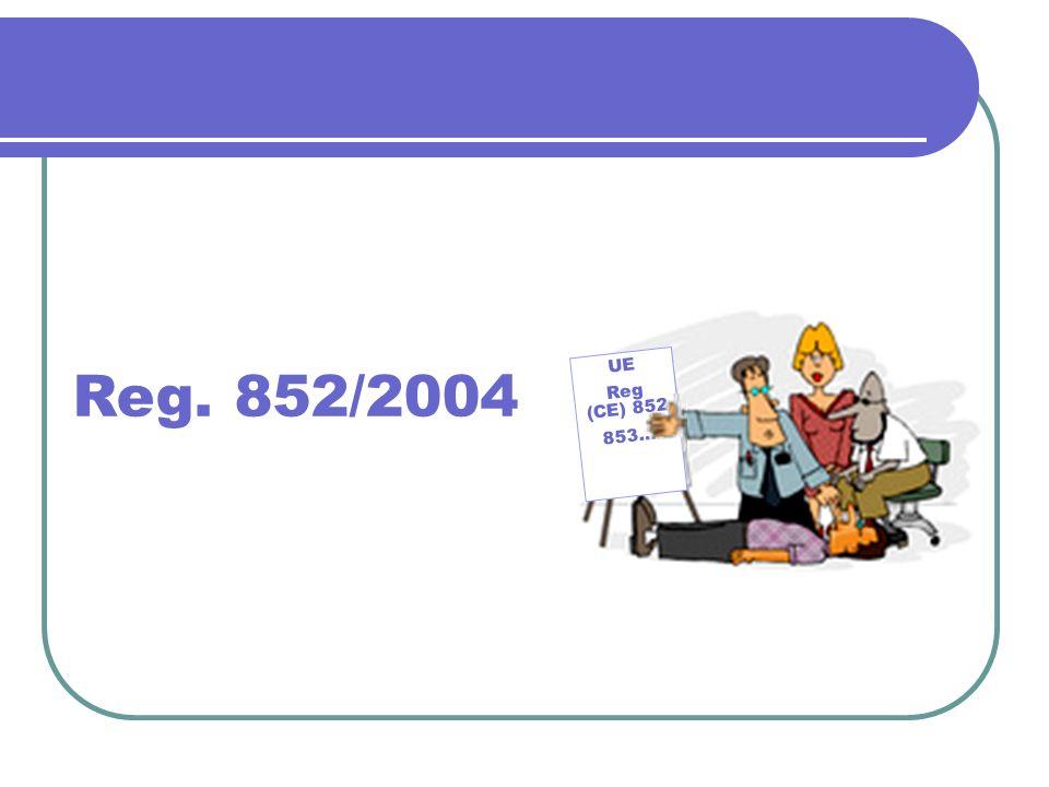 UE Reg (CE) 852 853… Reg. 852/2004