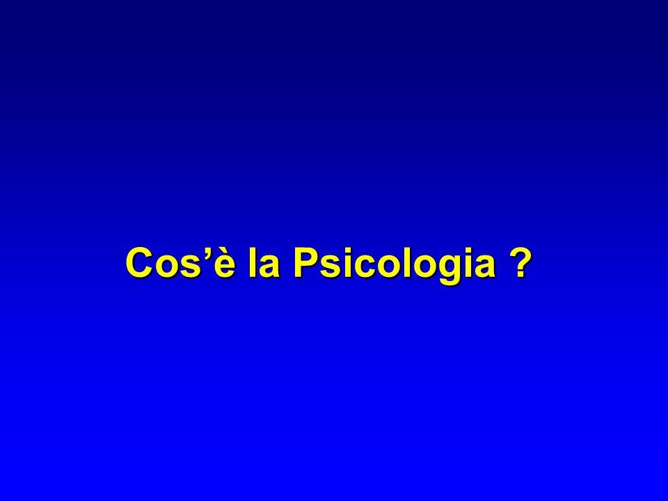 Nel Dizionario Zanichelli il termine PSICOLOGIA è compo- sto da: PSICHE-LOGOS PSICHE = ANIMA linsieme delle funzioni cerebrali complesse che consistono nellattività del pensiero, della vita emotiva e affettiva e in tutti i meccanismi che articolano le forme del comportamento umano Nella terminologia filosofica, medica e scientifica: psico = le relazioni con la psiche, con i processi, le condizioni della coscienza, dell anima dell individuo logos = espressione, discorso, studiologos = espressione, discorso, studio