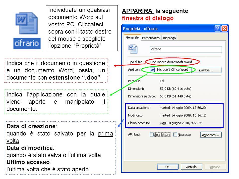 Individuate un qualsiasi documento Word sul vostro PC.