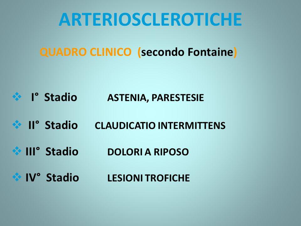 SINDROME DI LERICHE Trombosi ascendente e progressiva dell aorta addominale, secondaria ad ostruzione cronica arteriosclerotica della biforcazione aortica ARTERIOPATIE OSTRUTTIVE ARTERIOSCLEROTICHE DEGLI ARTI