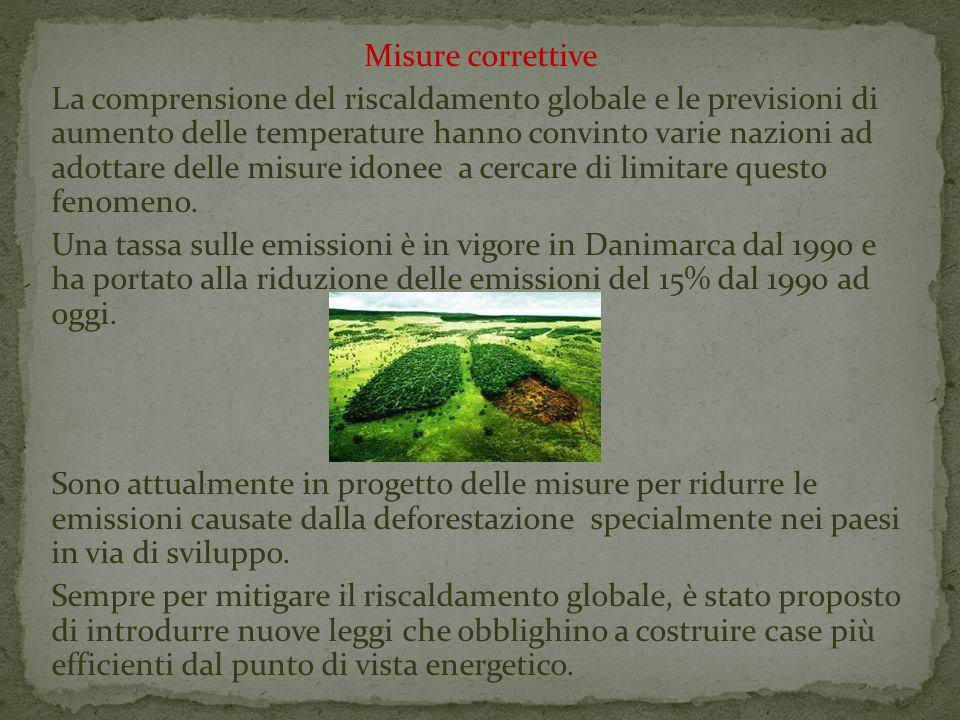 Misure correttive La comprensione del riscaldamento globale e le previsioni di aumento delle temperature hanno convinto varie nazioni ad adottare dell