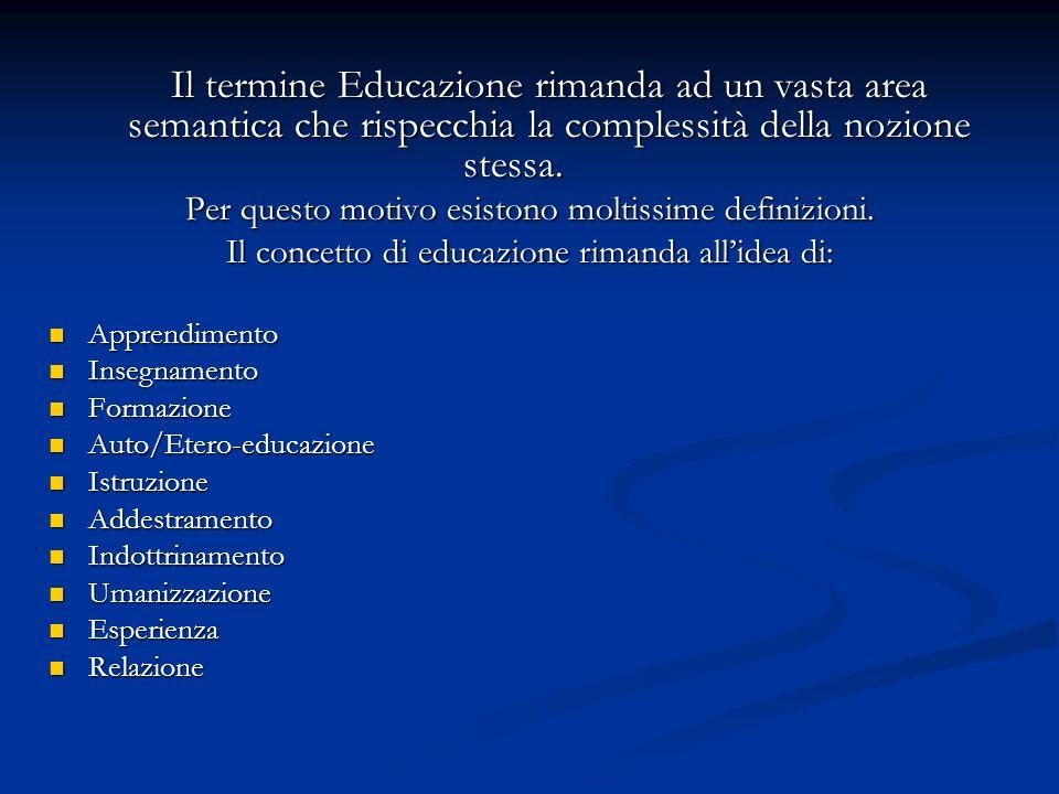 EDUCAZIONE COME PRODOTTO ATTIVITA Non è intenzionale Fare, operare AZIONE Implica intenzionalità e responsabilità.