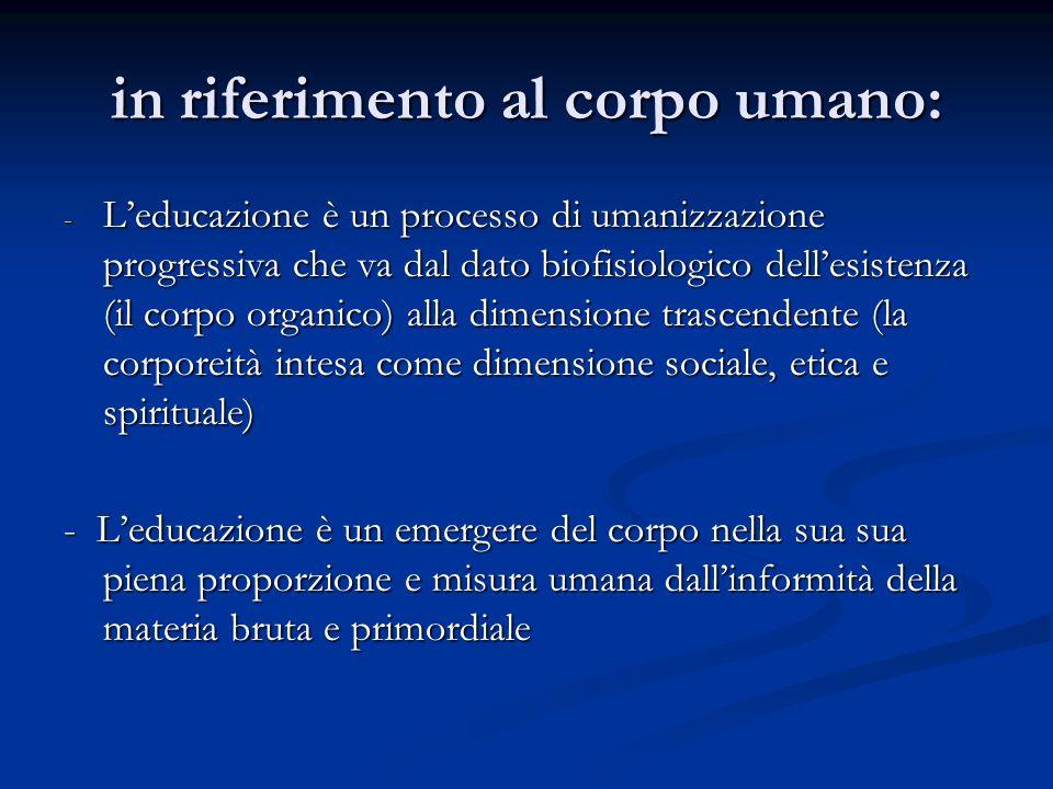 Aspetti peculiari delleducazione 1.PERFEZIONAMENTO 2.