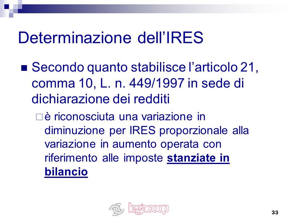 33 Secondo quanto stabilisce larticolo 21, comma 10, L. n. 449/1997 in sede di dichiarazione dei redditi è riconosciuta una variazione in diminuzione
