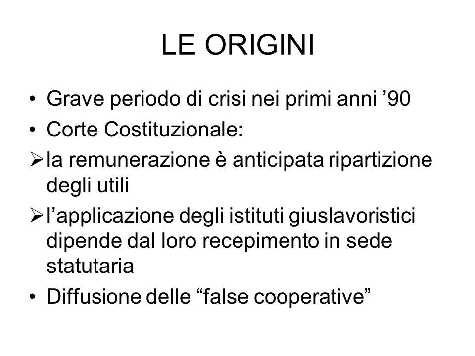 Il regolamento (3) Legge 30/03: la nullità delle disposizioni in pejus riguardano solamente le disposizioni relative al trattamento economico del socio Coerenza con lo scopo mutualistico delle cooperative di lavoro Procedura di certificazione dei regolamenti (artt.