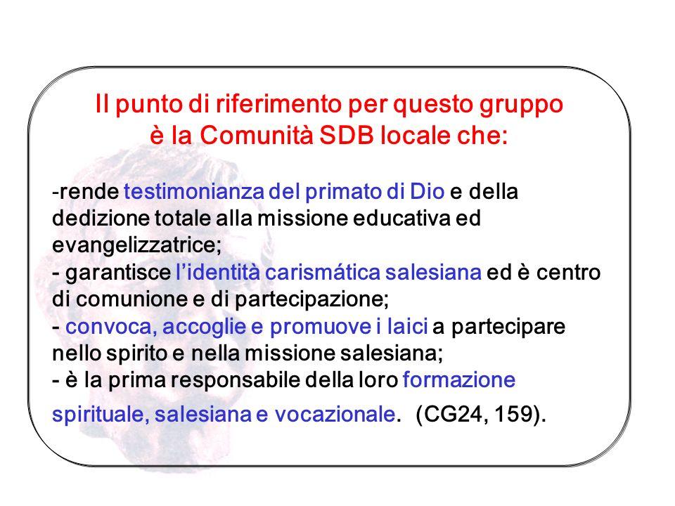 Gruppo di persone che si identifica con Missione Sistema Educativo Spiritualità assumono il compito di convocaremotivarecoinvolgere RUOLO E FUNZIONE D