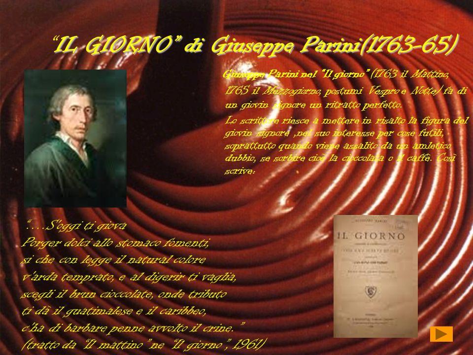 IL GIORNO di Giuseppe Parini(1763-65)IL GIORNO di Giuseppe Parini(1763-65) Giuseppe Parini nel Il giorno (1763 il Mattino, 1765 il Mezzogiorno, postum