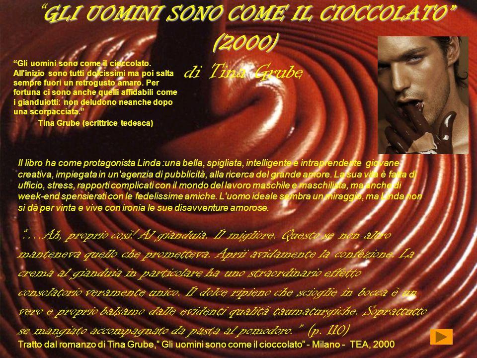 GLI UOMINI SONO COME IL CIOCCOLATO (2000) GLI UOMINI SONO COME IL CIOCCOLATO (2000) di Tina Grube Gli uomini sono come il cioccolato. All'inizio sono
