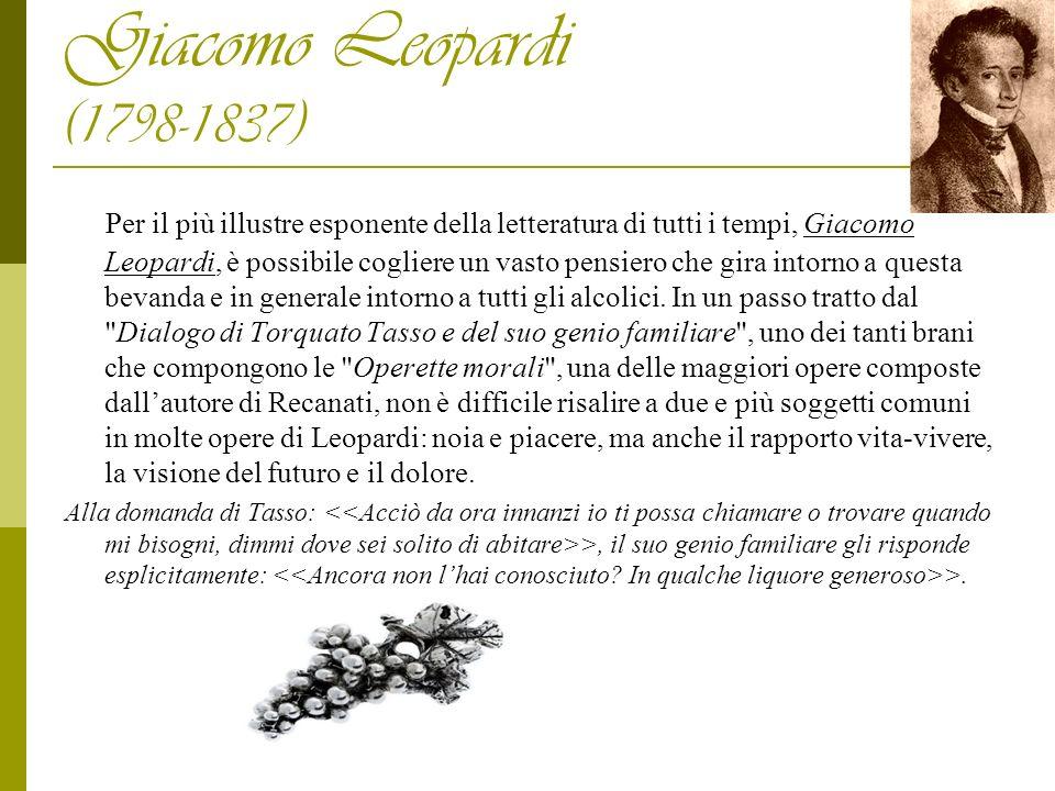 Giacomo Leopardi (1798-1837) Per il più illustre esponente della letteratura di tutti i tempi, Giacomo Leopardi, è possibile cogliere un vasto pensier