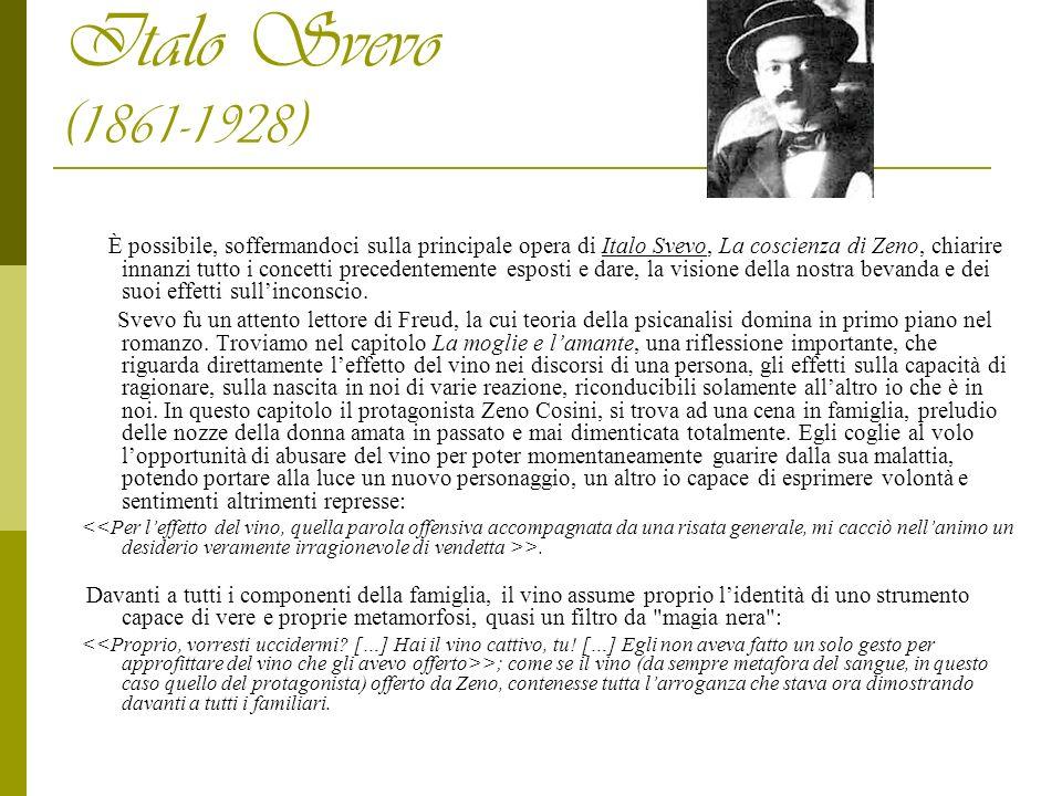 Italo Svevo (1861-1928) È possibile, soffermandoci sulla principale opera di Italo Svevo, La coscienza di Zeno, chiarire innanzi tutto i concetti prec