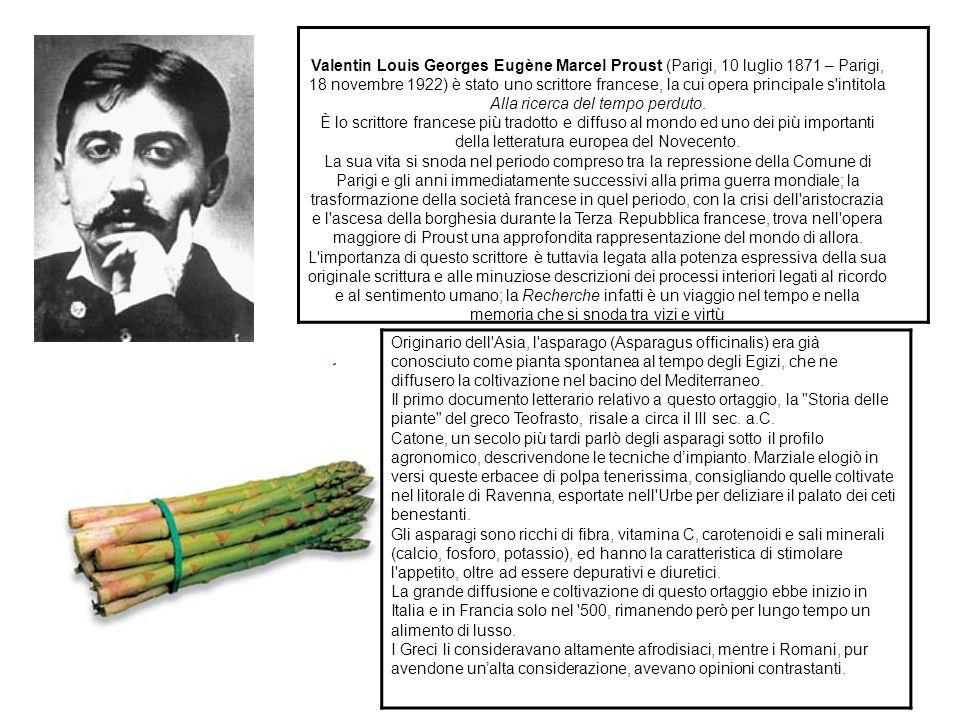 Valentin Louis Georges Eugène Marcel Proust (Parigi, 10 luglio 1871 – Parigi, 18 novembre 1922) è stato uno scrittore francese, la cui opera principal