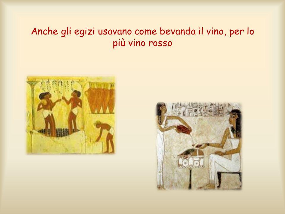 Anche gli egizi usavano come bevanda il vino, per lo più vino rosso