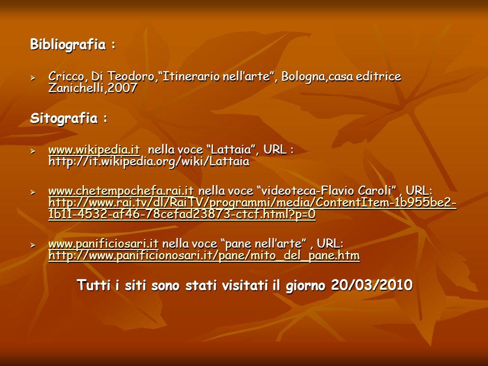 Bibliografia : Cricco, Di Teodoro,Itinerario nellarte, Bologna,casa editrice Zanichelli,2007 Cricco, Di Teodoro,Itinerario nellarte, Bologna,casa edit