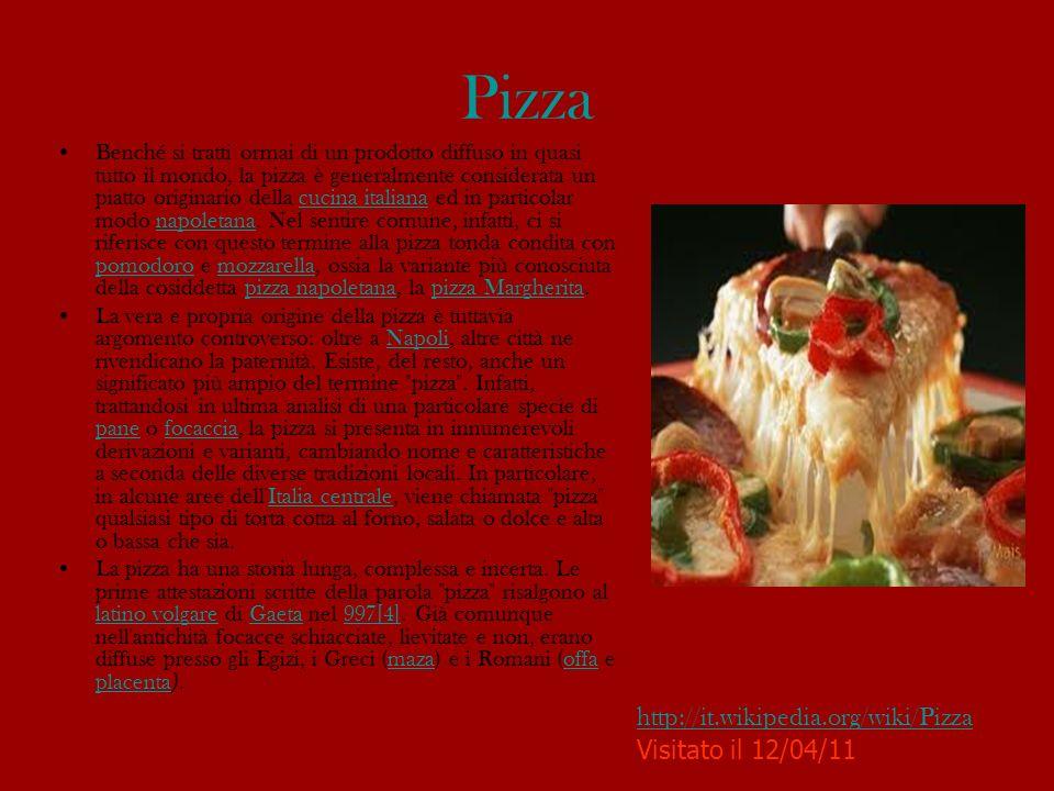 La pizza napoletana verace La pizza napoletana è l unico tipo di pizza italiano riconosciuto, con la denominazione pizza napoletana verace artigianale, tra i prodotti agroalimentari tradizionali.