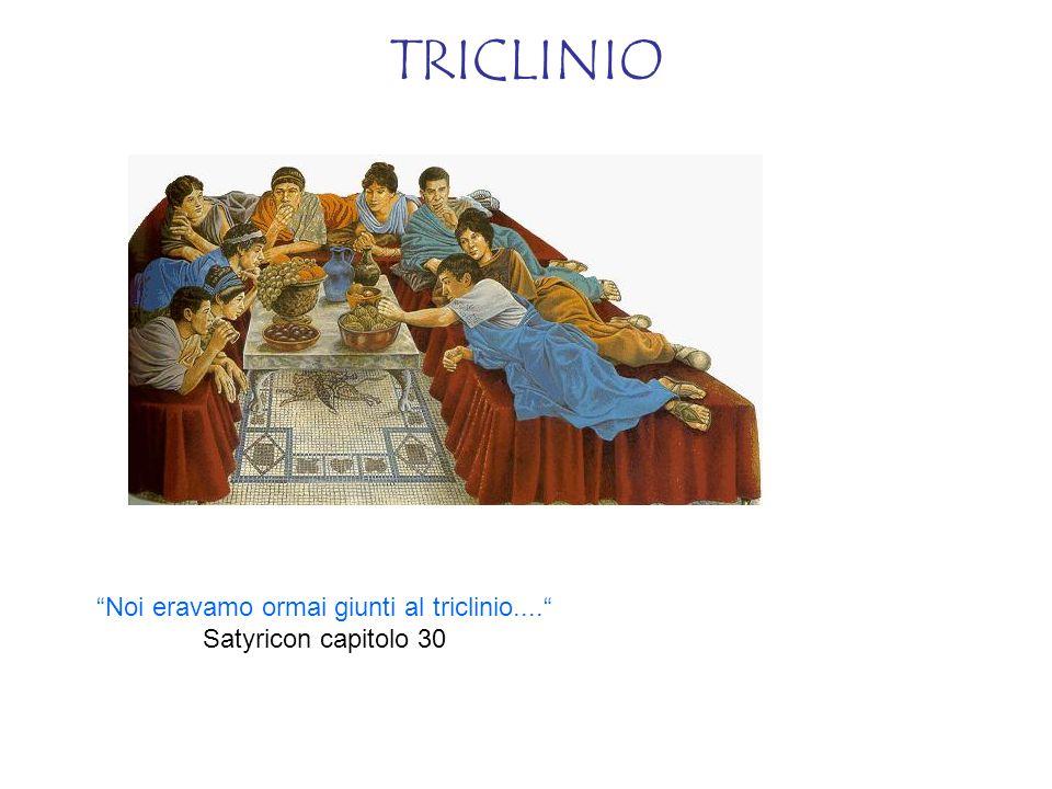 TRICLINIO Noi eravamo ormai giunti al triclinio.... Satyricon capitolo 30
