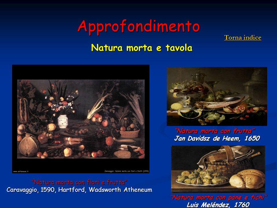 Approfondimento Natura morta e tavola Natura morta con fiori e frutta Caravaggio, 1590, Hartford, Wadsworth Atheneum Natura morta con frutta Jan David